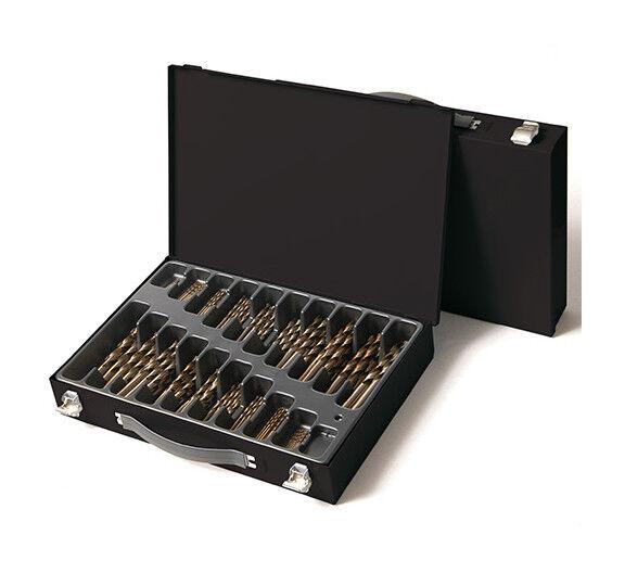 Labor - Coffret 190 pcs de forets métaux DIN 338 HSS M35 5% Cobalt D. 1 à 10 mm