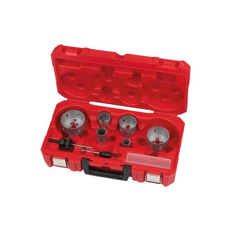 MILWAUKEE Coffret scie cloches MILWAUKEE - 10 pièces 4932464719 - Gris charbon