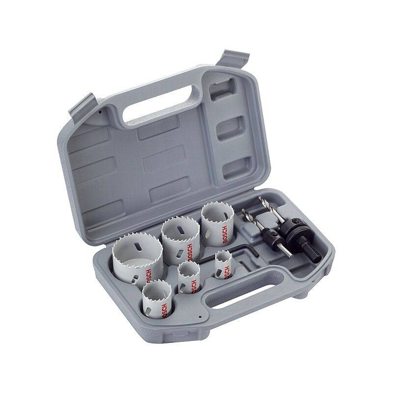 BOSCH Coffret scies-trépans bimétal électricien, Ø 20, 25, 35, 40, 51 et 68 mm avec 2
