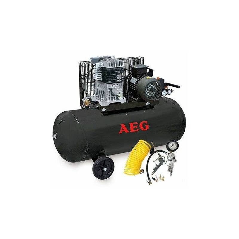 AEG - Compresseur 100 Litres 3 Cv livré avec kit de gonflage