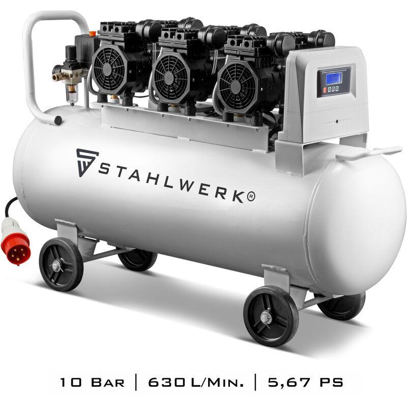 STAHLWERK Compresseur à air comprimé STAHLWERK ST 1010 pro - chaudière 100 L, 10 Bar,
