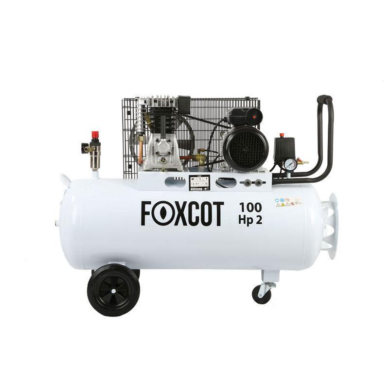 Foxcot Professional - Compresseur d'air Foxcot 100 litres FL100 - kit 5 outils