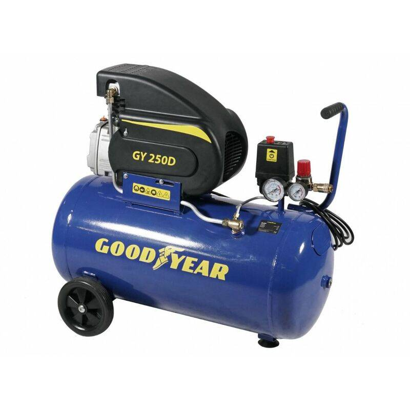 GOODYEAR Compresseur d'air électrique 50L 2CV 1500W 8 bar 200 Litres/minute - Goodyear