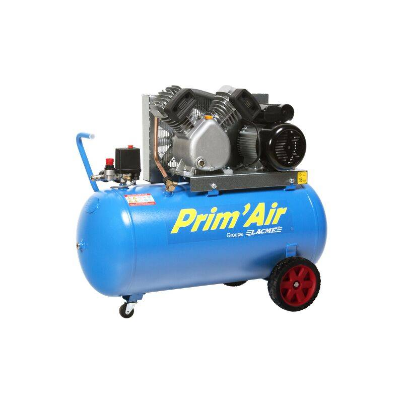 LACME Compresseur Prim'Air 21/100 100L 21M³/H Mono 2 CV 10 bars 122200 - Lacme