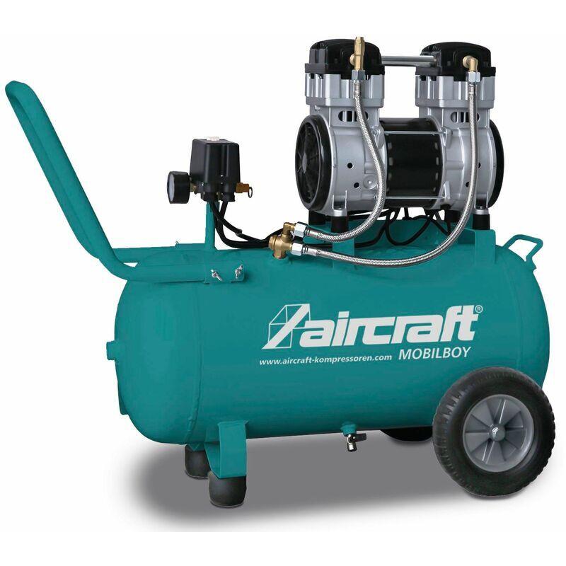 AIRCRAFT Compresseur silencieux 8 bars 50L 140l/min MOBILBOY SIL 241/50 - Aircraft