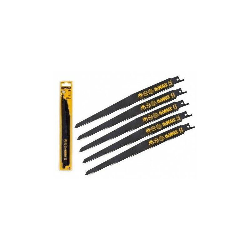 Dewalt DT2363-QZ Lame de scie sabre HCS pour la coupe du bois 228mm Métal / Bois