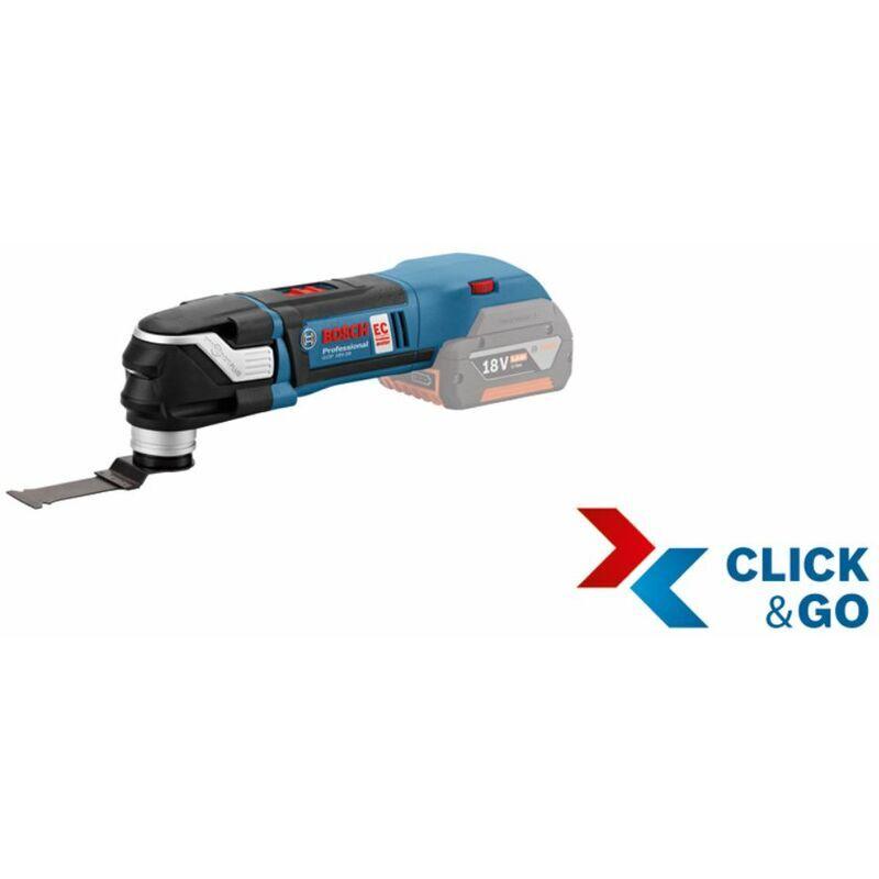 BOSCH GOP multi-cutter sans fil 18 V-28 avec L-BOXX et lame pour scie