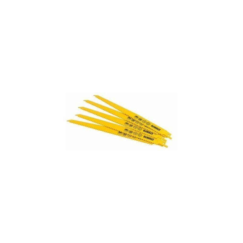Dewalt DT2350-QZ Lame de scie sabre BIM Plungepoint pour la coupe du bois 228mm