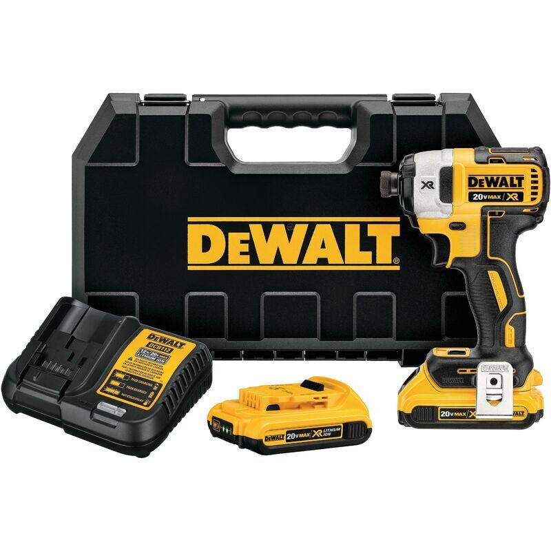 Dewalt DCF887D2-QW DCF887D2-QW-BLUSHED IMPACT SCREWDRIVER XR 18V, Black/Yellow,