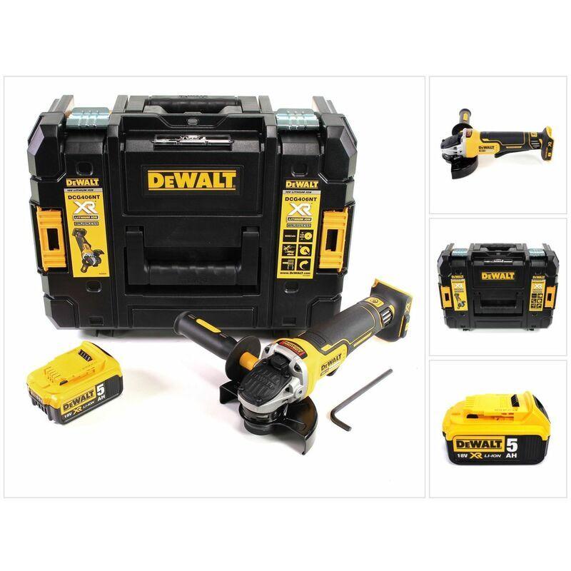 DeWalt DCG 406 18 V 125 mm Brushless Meuleuse d'angle + 1x Batterie 5 Ah +