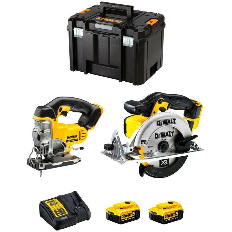 DeWALT kit DCK XR2WP2T (DCS331 DCS391 2 x 5,0 Ah DCB115 TSTAK VI)