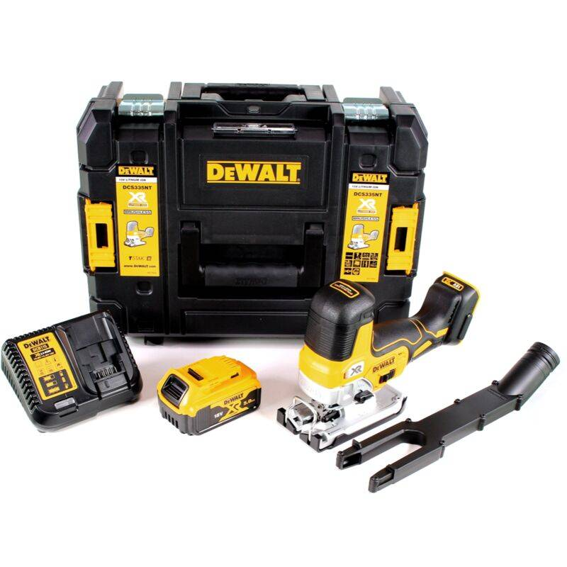 DeWalt DCS 335 P1 Scie sauteuse sans fil 18V + 1x Batterie 5,0 Ah + Chargeur +