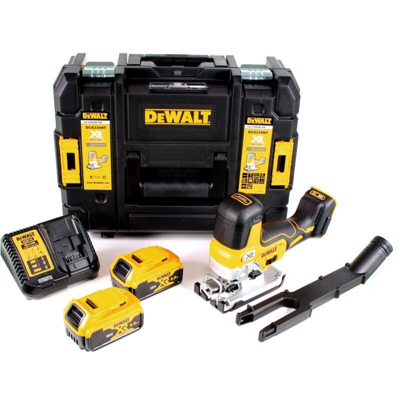 DeWalt DCS 335 P2 Scie sauteuse sans fil 18V + 2x Batteries 5,0 Ah + Chargeur +