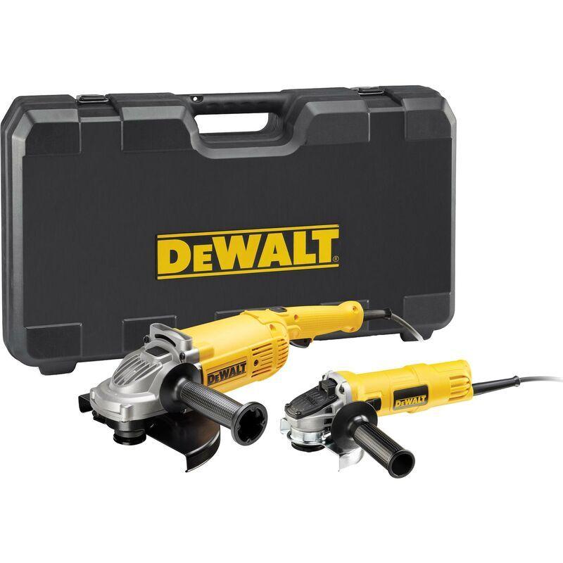 DeWALT 2 x meuleuse d'angle 230/125 mm, DWE 494 + DWE 4157 - DWE494TWIN-QS