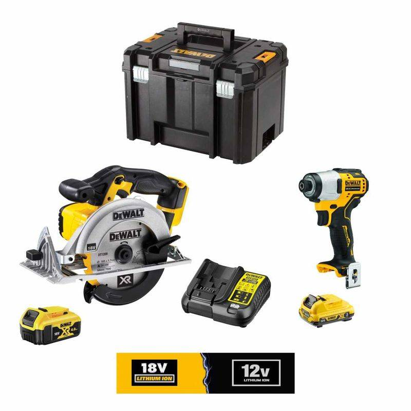 DeWALT Kit 12V/18V DCK9101L1M1T (DCS391 DCF801 1 x DCB182 18V 4,0 Ah 1 x DCB124