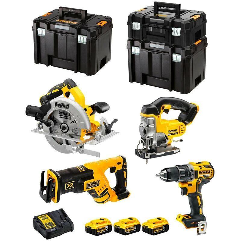 DeWALT Kit DCK421P3T (DCD791 DCS570 DCS331 DCS367 3 x 5,0 Ah DCB115 1 x TSTAK