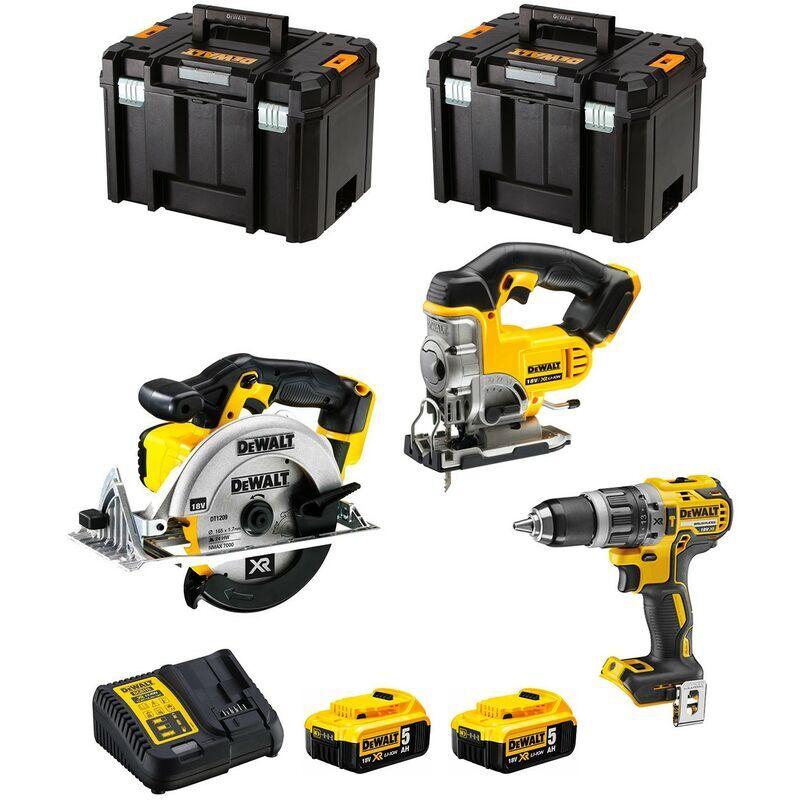 DeWALT Kit DWK300 (DCD796 DCS331 DCS391 2 x 5,0 Ah DCB115 2 x TSTAK VI)