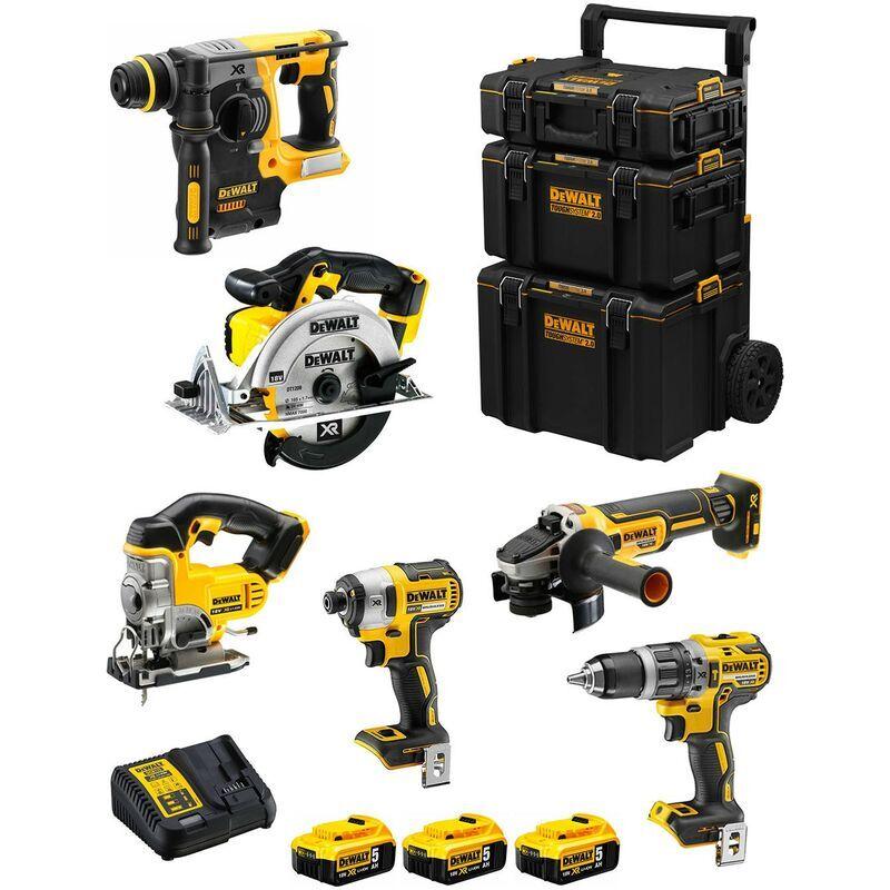 DeWALT Kit DWK600 (DCD796 DCH273 DCG405 DCF887 DCS331 DCS391 3 x 5,0 Ah DCB115