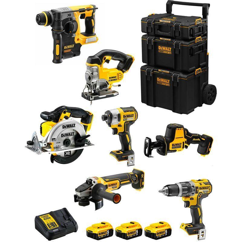 DeWALT Kit DWK702 (DCD796 DCH273 DCG405 DCF887 DCS331 DCS391 DCS369 3 x 5,0 Ah