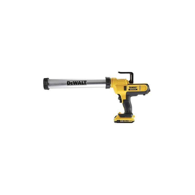 DeWalt - Pistolet à mastic XR 18V 2Ah Li-Ion - cartouche 310ml et sachet 600ml