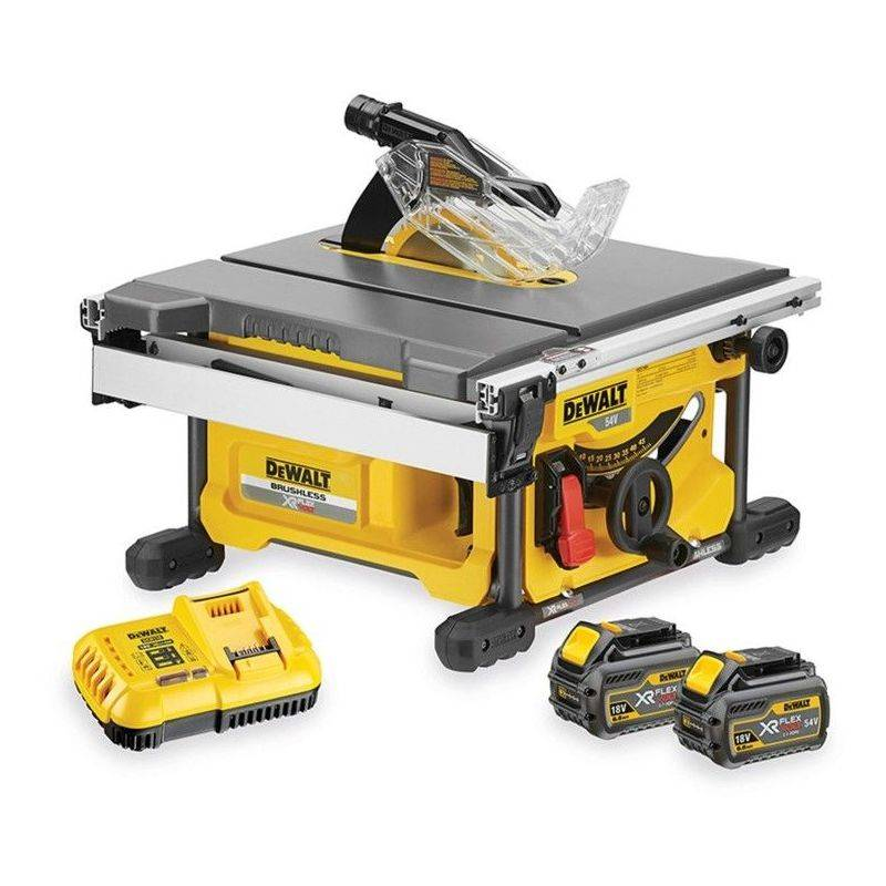 DEWALT DCS7485T2-QW. Scie à table XR FLEXVOLT 54Volts 2Ah Li-Ion Brushless Dewalt