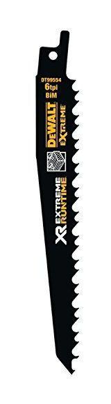 DeWalt XR Extreme Runtime Scie sabre feuilles BIM 152mm, lot de 5,