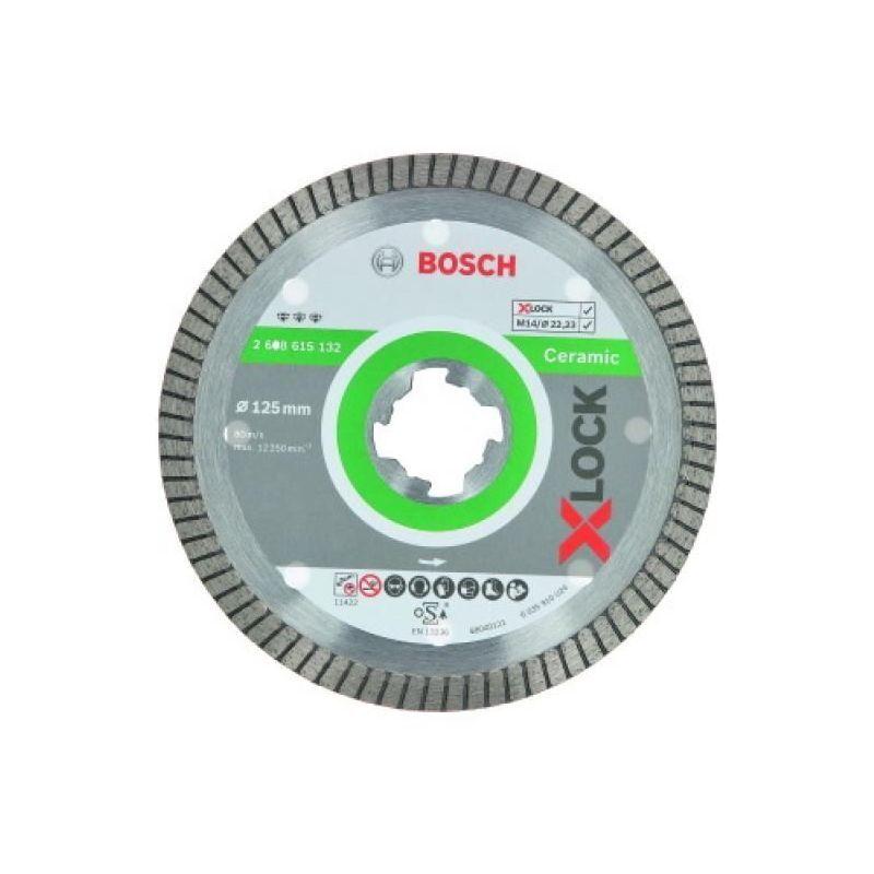 Bosch - Disque à tronçonner diamant grès céram et carrelage Xlock diamètre 125