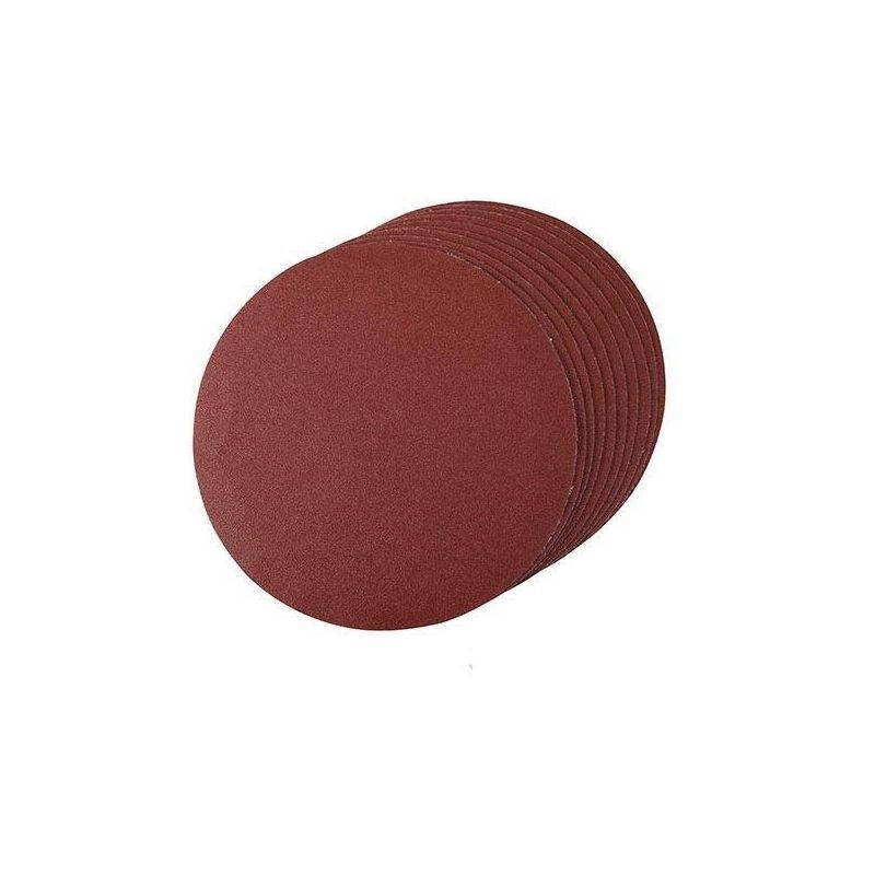 KLINGSPOR Disque abrasif velcro 150 mm, grain 80, le lot de 10, Qualité Pro Klingspor !