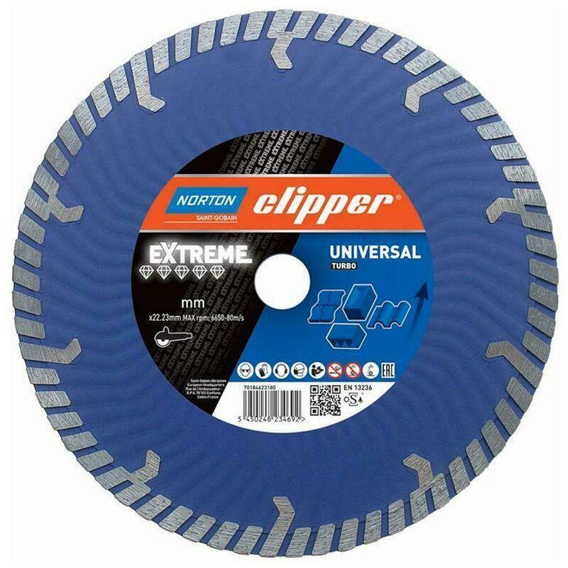 NORTON CLIPPER Disques diamant Extreme Universal Turbo - 230x22,2 mm + Flansch - Norton Clipper