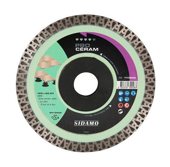 Sidamo - Disque diamant PRO CÉRAM D.230 x 22,23 x H 10 mm Grès céram / dalle