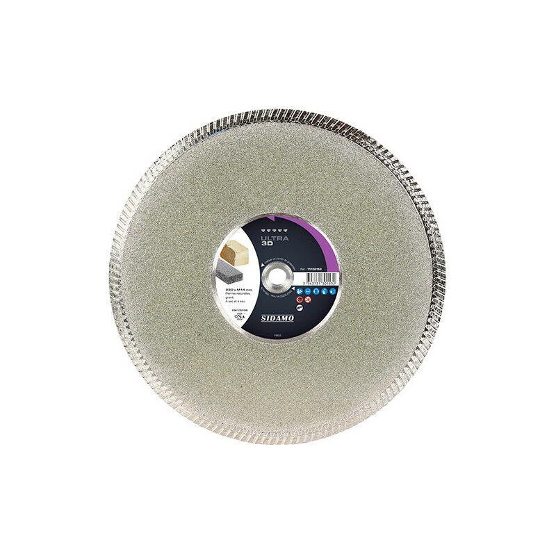Sidamo - Disque diamant ULTRA 3D - D.230 x M14 x Ht. 8 mm - Pierre naturelle
