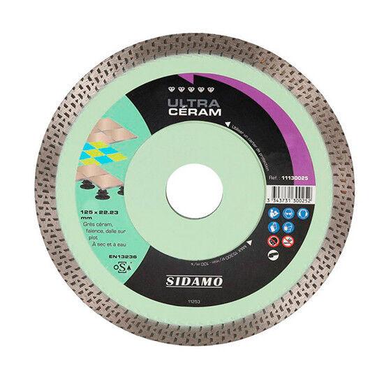 Sidamo - Disque diamant ULTRA CÉRAM D. 230 x 22,23 x H 10 mm Grès céram /