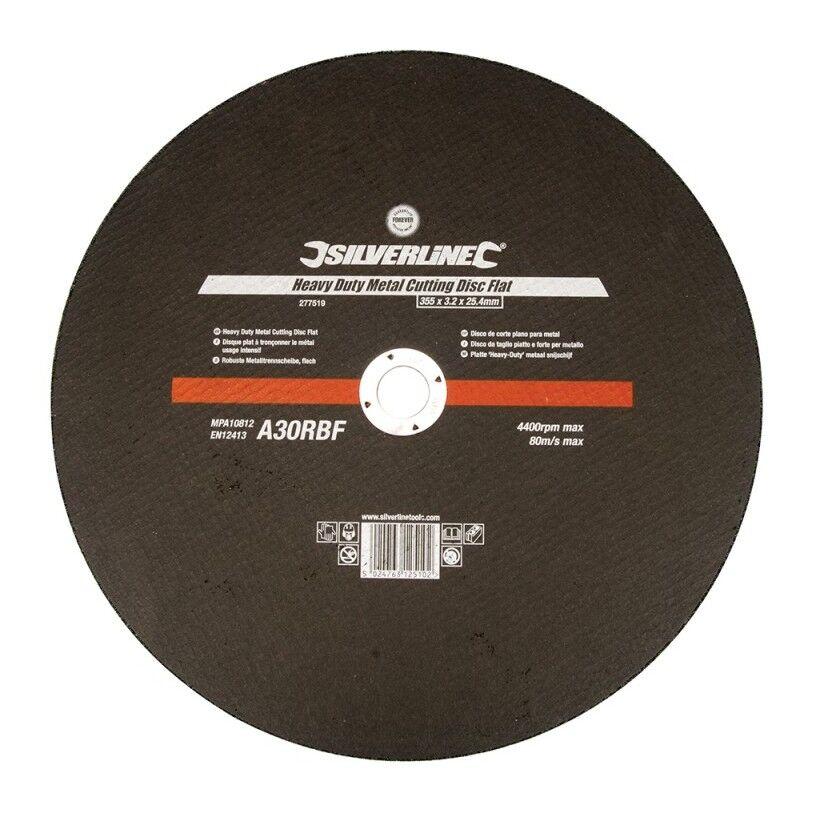 SILVERLINE Disque plat à tronçonner le métal usage intensif - 355 x 3,2 x 25,4 mm