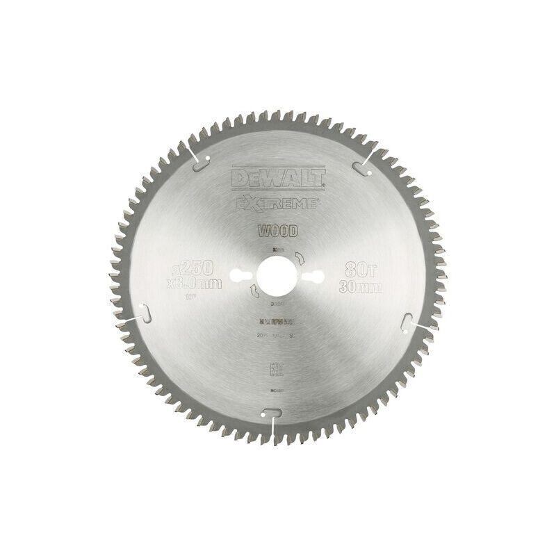 Dewalt - Lame carbure scie circulaire - Diametre : 250 - Coupe : Bois, Alu