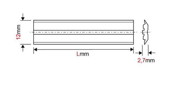 FORÉZIENNE Fer de dégauchisseuse/raboteuse reversible Centrofix HSS 310 x 12 x 2,7 mm (le