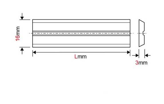 Forézienne - Fer de dégauchisseuse/raboteuse reversible Centrolock carbure 130