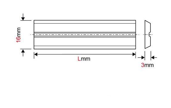 Forézienne - Fer de dégauchisseuse/raboteuse reversible Centrolock carbure 240