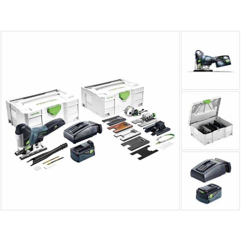FESTOOL 18 V Festool Scie sauteuse sans fi PSC 420 Li 5,2 EBI-Set CARVEX 18 V + Coffret