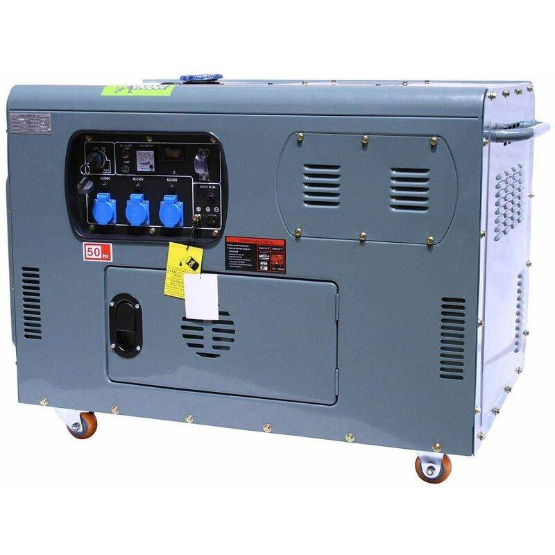 VARAN MOTORS 92692 Générateur / Groupe électrogène Diesel insonorisé 12kW 230V + 12V - Gris