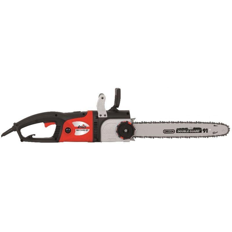 Tronçonneuse électrique Grizzly Tools EKS 2440 – Scie à chaîne de 2400 watts, longueur de lame de 40 cm, chaîne et lame Oregon, moteur longitudinal