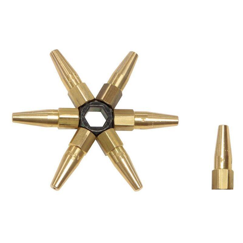GYS Kit étoile 7 becs de soudage (40 à 400 L/h) Gys 039025
