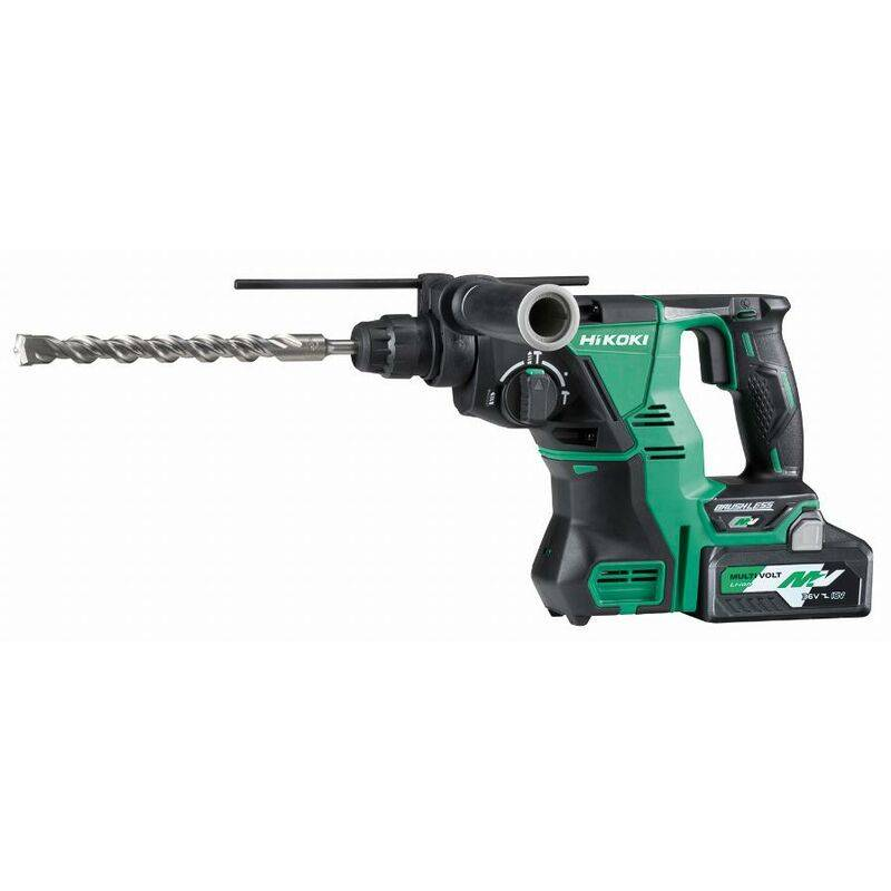 HITACHI - HIKOKI Perforateur HIKOKI MultiVolt 3 modes SDS+ 28mm 36/18V 4,0/8,0Ah - DH36DPAWVZ