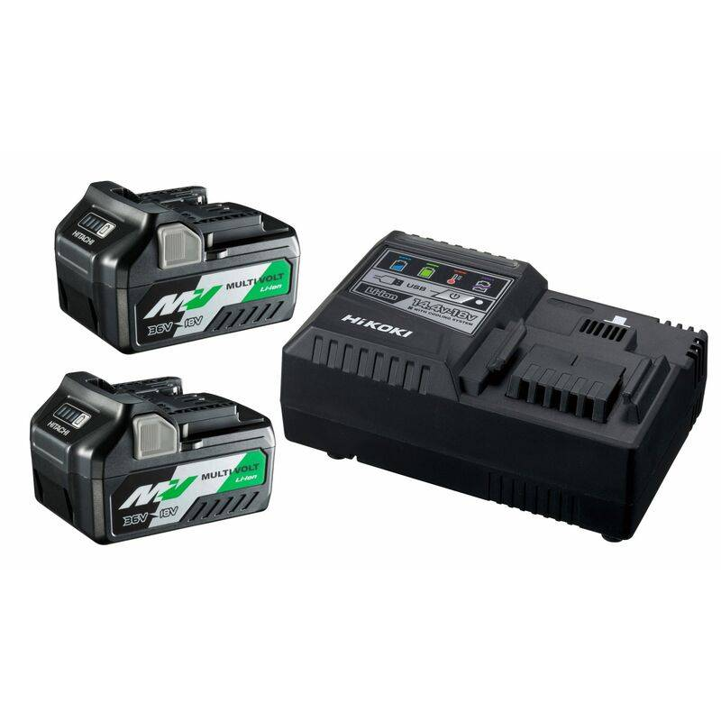 HiKOKI UC18YSL3WEZ BoosterPack Multi-Volt - (2 x 5Ah)18V - 2,5Ah 36V - chargeur