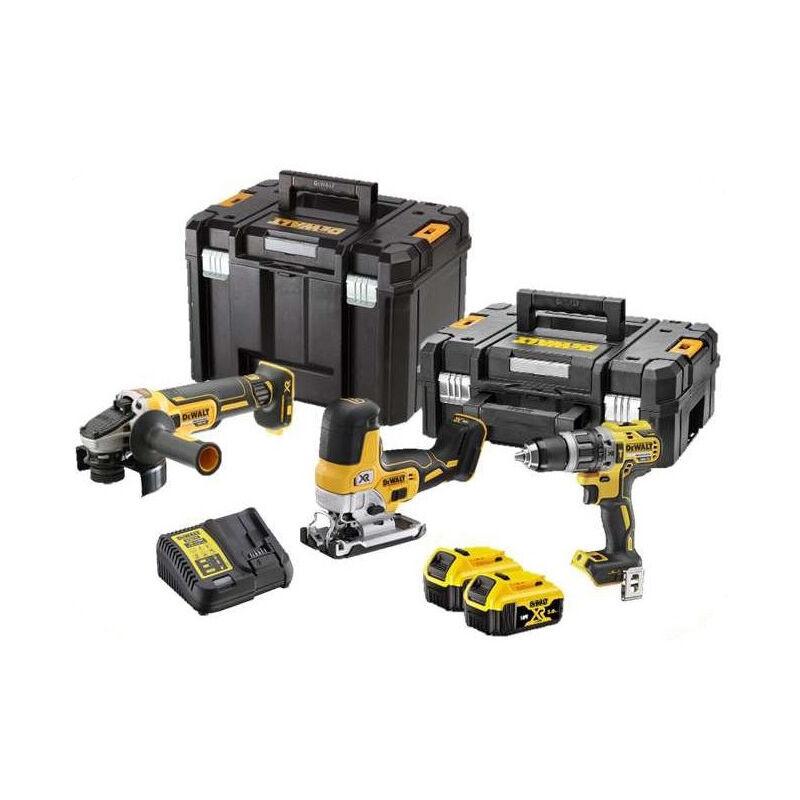 DEWALT Kit 3 Outils XR 18V 5Ah Li-Ion brushless DEWALT spécial bricolage - DCK329P2T