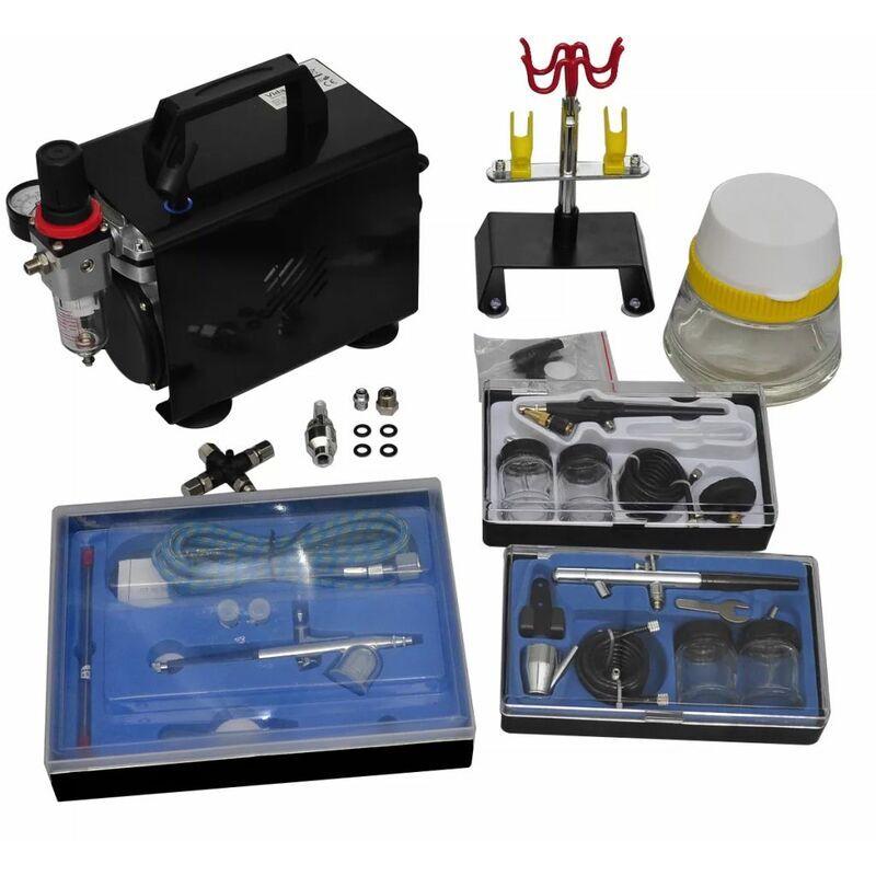 Youthup - Kit de compresseur d'aérographe avec 3 pistolets Machines d'atelier