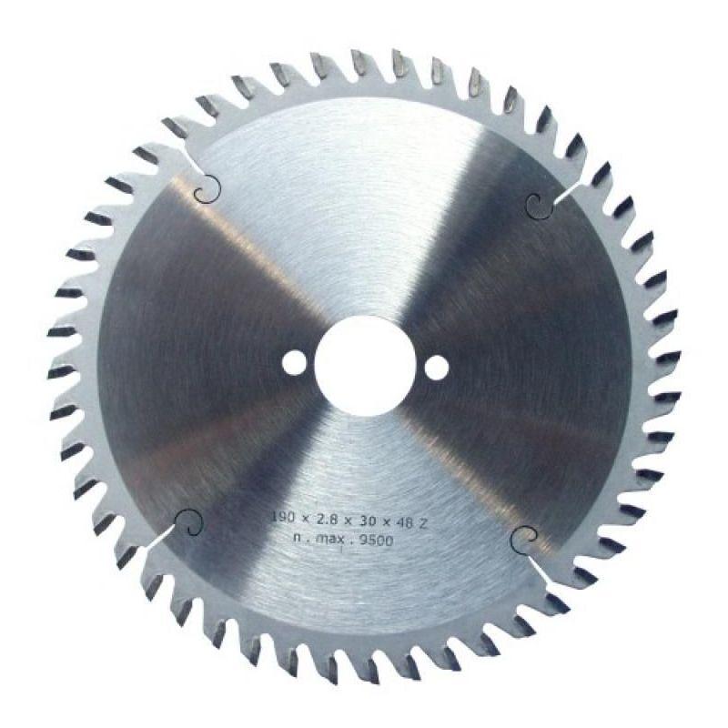 LEMAN Lame carbure à denture alternée de finition, diamètre 216 mm, alésage 30 mm, 48