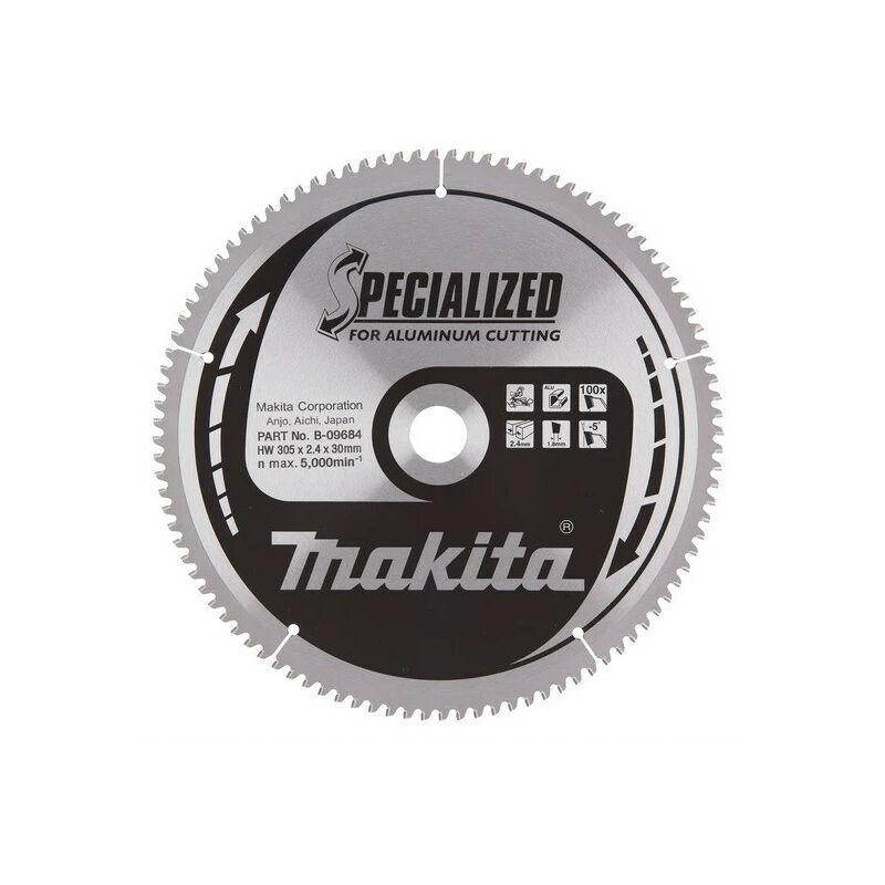 Makita - Lame carbure Specialized Ø 305 x 30 mm 100 dents pour aluminium