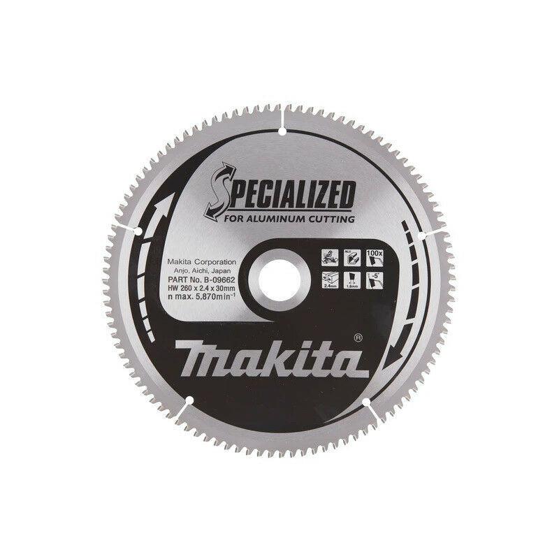 Makita - Lame Carbure 100 dents pour scie à onglet Ø260mm - B-09662 - TNT