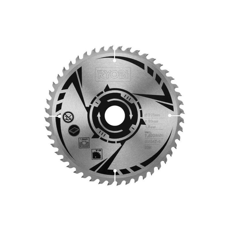 RYOBI Lame carbure RYOBI pour scie à onglets 216mm 48 dents SB216K16T48A1