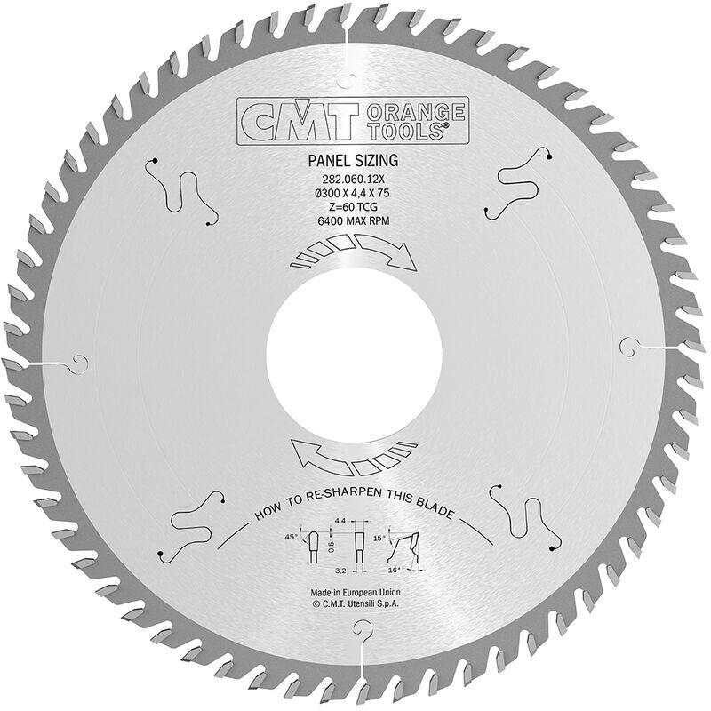 CMT ORANGE TOOLS 282.072.16W Lame Circulaire 400X4.4X80 Z=72 16Tcg